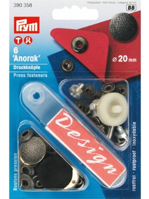 "PRYM 390358 Кнопки ""Anorak"" Design, 20mm"